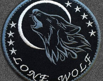Lone Wolf Iron on Patch