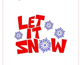Let It Snow Snowflake Stencil