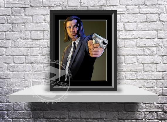 Pulp Fiction Vincent Vega (John Travolta) Print Poster - Choose Size