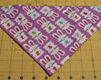 Dog Bandana, Easter, neckerchief, spring, bunny, rabbit, purple