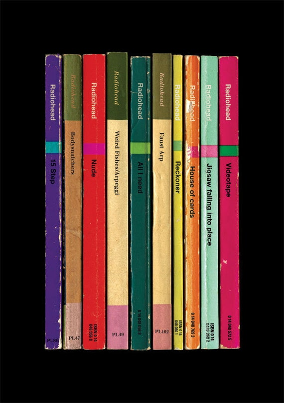 Penguin Book Cover Wall Art : Radiohead in rainbows album as books poster print