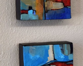 Modern Art Abstract Painting, FREE Priority Shipping, Collectible Art, Original Acrylic Painting, Canvas Art, Contemporary, Office Art