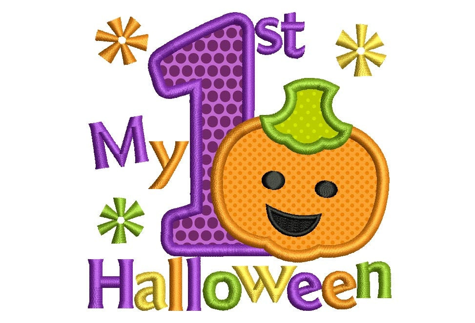 My First Halloween Applique Embroidery Design HAL012