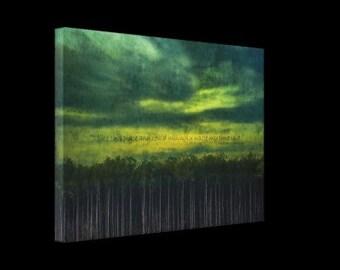 J'ai comme This Place - imprimé toile Wrap, Art pariétal, forêt, bois, arbres, ciel, cite, Shakespeare, photographie RDelean