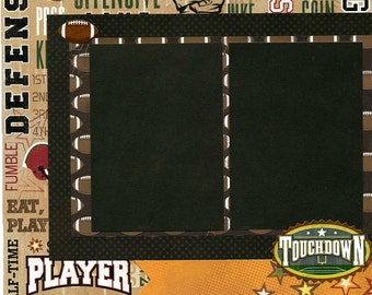 12x12 Premade Football Layout - Touchdown