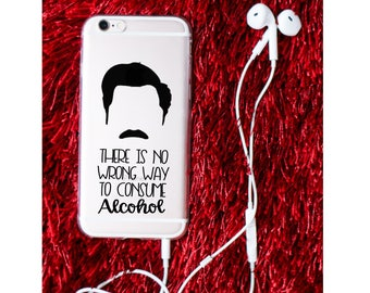 Ron Swanson iPhone Cases - Parks and Rec Inspired iPhone Case - Ron Swanson Quotes - iPhone Clear Soft Case - Gift For Him - Funny Quotes
