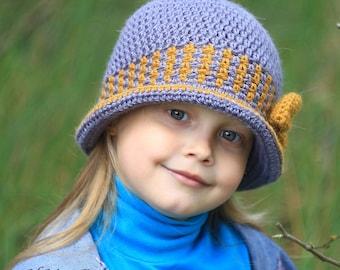 Crochet hat pattern, hat pattern, crochet hat (Toddler, Child, and Adult sizes) brim hat pattern, PDF pattern, spring hat pattern