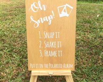Wedding Sign, Oh Snap, wedding photo sign, wedding signage