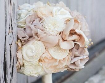 Flower Bouquet | Wedding Bouquet | Alternative Bouquet | Blush Wedding Bouquet | Handmade | Floral Alternative | Silk Wedding Flowers