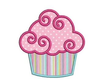 SALE 50% 9 Size Cupcake Applique Embroidery Designs, Machine Embroidery Designs - 8 File Fomats