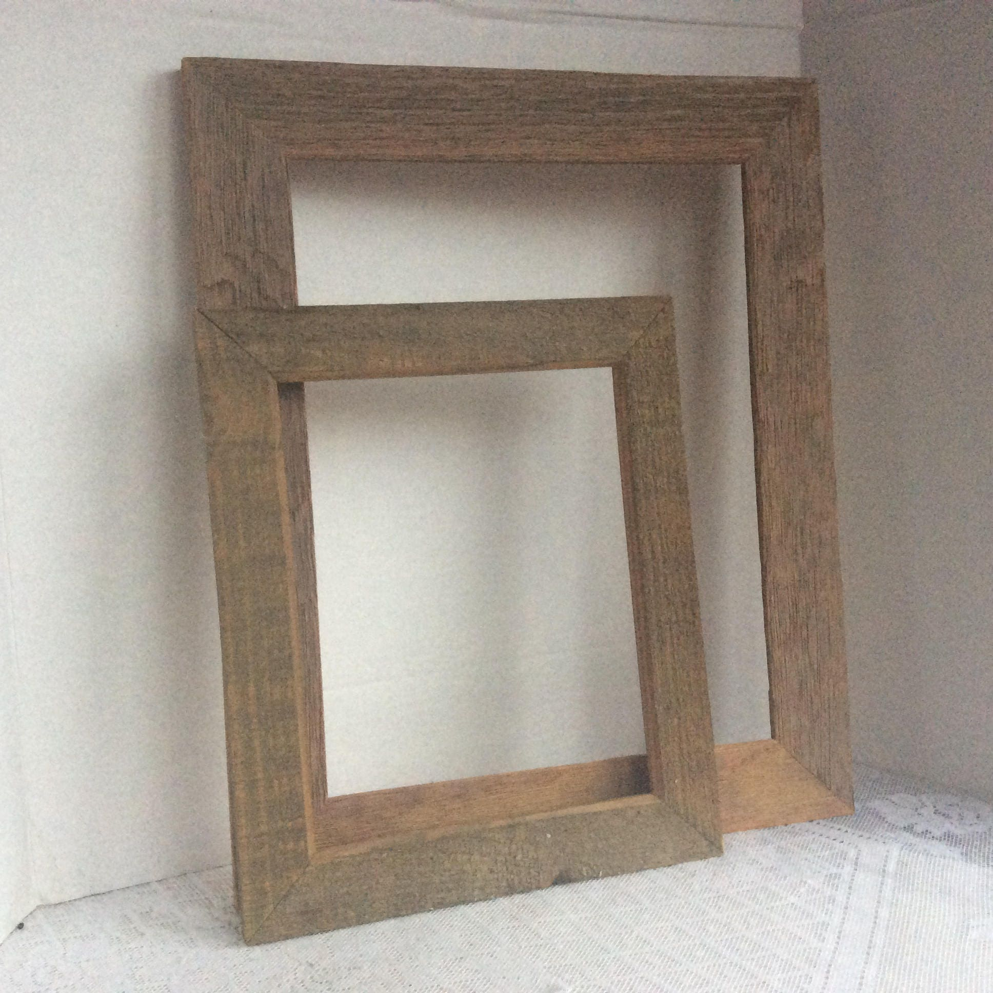 Picture Frames / Vintage Wood Frames / Rustic Rectangle Wooden ...