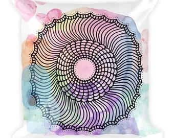 Boho Mandala Throw Pillow