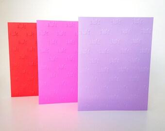 Cat Cards, Embossed Cat Cards, Embossed Cat Stationery, Kitty Cat Cards, Kitty Cat Stationery, Kitty Cat Card Set, Embossed Cat Silhouette
