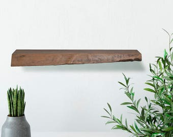 Live Edge Floating Black Walnut Shelf
