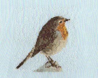 Winter Robin Cross Stitch Pattern PDF ** Instant Download **
