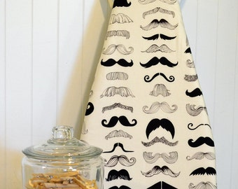 Ironing Board Cover - Where's my Stache White