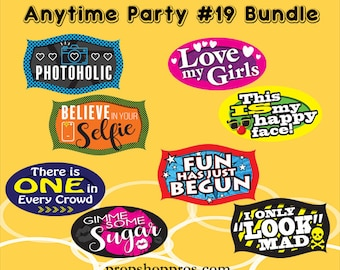 "Party Signs | Anytime Party ""19"" 
