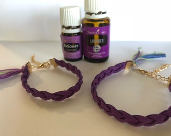 Lavender Mommy and Me essential oil diffuser bracelet.