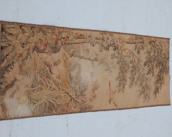 Vintage French Beautiful Romantic Scene Tapestry (139x60cm)