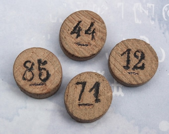 4 LOTTO FRENCH marker disc pieces wood game pieces