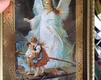Angel with two children