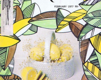 Popular Ceramics Hobby Magazine February 1977 with Robert Kernaghan's Lemon-Centered Table Setting and Vintage Advertising