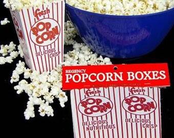 24 Retro Popcorn Boxes - Movie Theater style