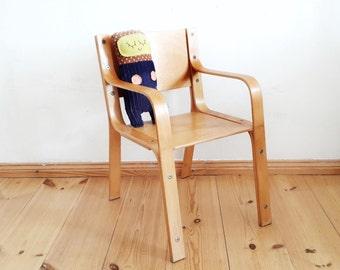 Vintage Kid's Chair Made of Wood