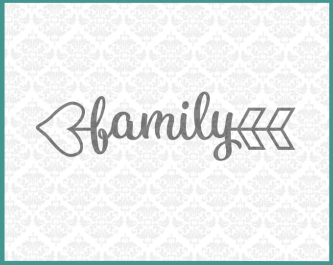 CLN055 Heart Arrow Monogram Words Family Home Love Circle SVG Ai EPS vector instant download commercial use cutting file cricut silhouette