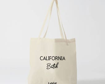 X481Y tote bag California tote bag city calirfonia city, cotton tote bag, bag, shopping bag, bag and tote bag, bags and luggage