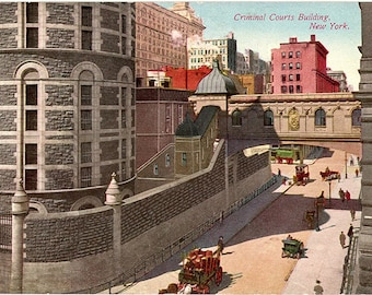 Criminal Courts Building New York City Vintage Postcard circa 1910 (unused)