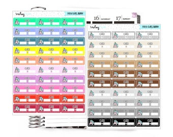 Buddy Class Schedule Labels (Bad day)- Scrapbook/Planner Stickers for Erin Condren/ ECLP, Happy Planner, Personal