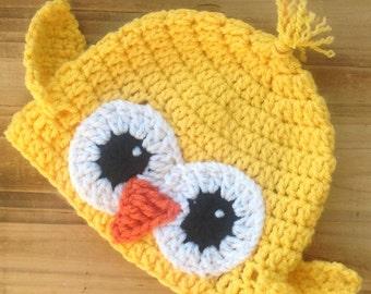 Crochet Baby Hat, Chickie Hat, Baby Chicken Hat, Newborn Photo Prop, Infant Halloween Costume, Baby Costume, Newborn Costume, Infant