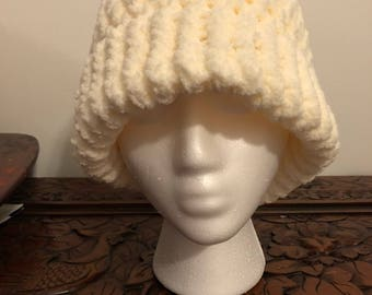 """Loose Knit Hat with 2"""" inch band (adult size)"""