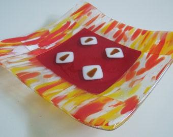 "9""x9"" plate - Autumn Blaze"