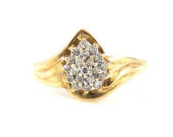 10K Diamond Cluster Ring - X4150
