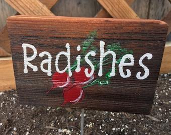 Radish garden sign