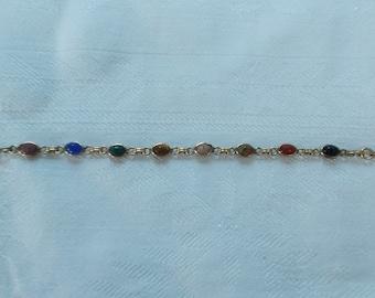 Vintage Gold Filled Scarab Bracelet.  (792)