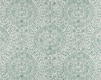 Marrakesh Spa cotton fabric by the yard medallion ikat Magnolia Home Fashions