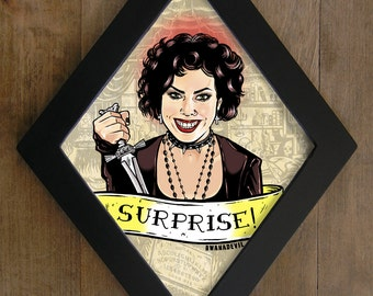 Nancy ( Fairuza Balk) from The Craft. Surprise! diamond framed print.