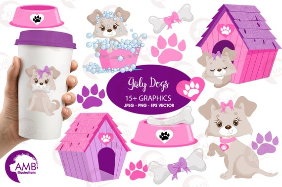 puppy dog clipart dog clip art girl puppy clip art animal rh etsy com puppy dog face clipart puppy dog clipart images