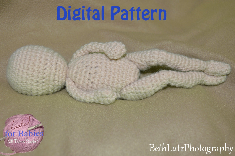 Amigurumi Doll Crochet Pattern, Amigurumi Micro Preemie, Amigurumi ...