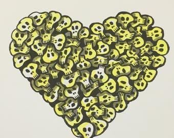 Skull Heart Color