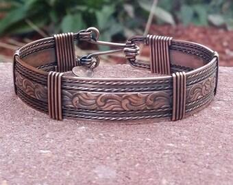 Copper jewelry, copper bracelet, wire jewelry, wire wrapped jewelry, western jewelry, healing jewelry