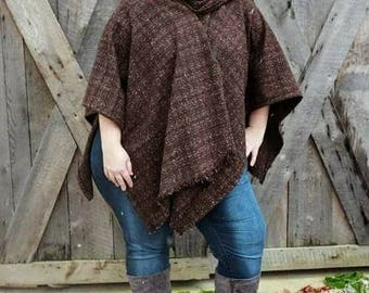 Beautiful Chocolate Brown Cape Coat