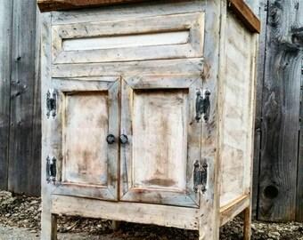 "SALE: Distressed Farmhouse Edition 18"" - 72""  Custom, Driftwood, Hand Made, Barn Wood, Reclaimed Wood, Bathroom Vanity"