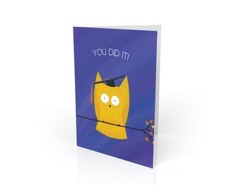 Owl Graduation Card - Funny Graduation Card