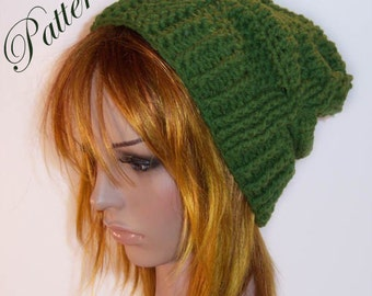 "Cable Fae Slouch Hat """"""P A T T E R N"""""""