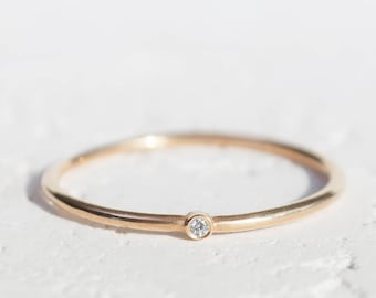 Simple diamond ring Etsy
