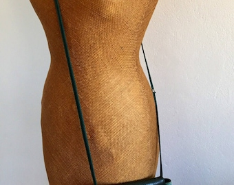 Ladies/vintage/green/leather/purse/bag/edgy/fashionista